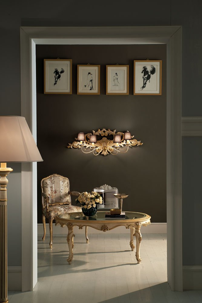 Decape and gold wall lamp and floor: lamp classic luxury furniture