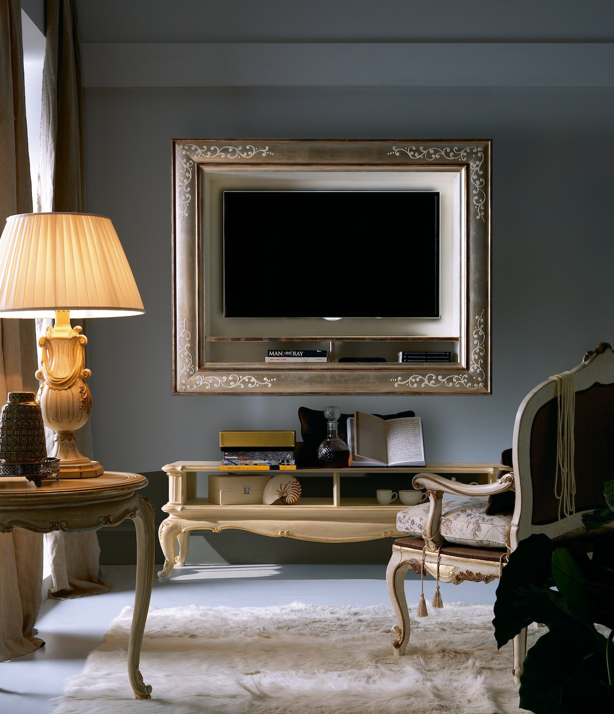 TV display cabinet | etagere | classic contemporary living room furniture