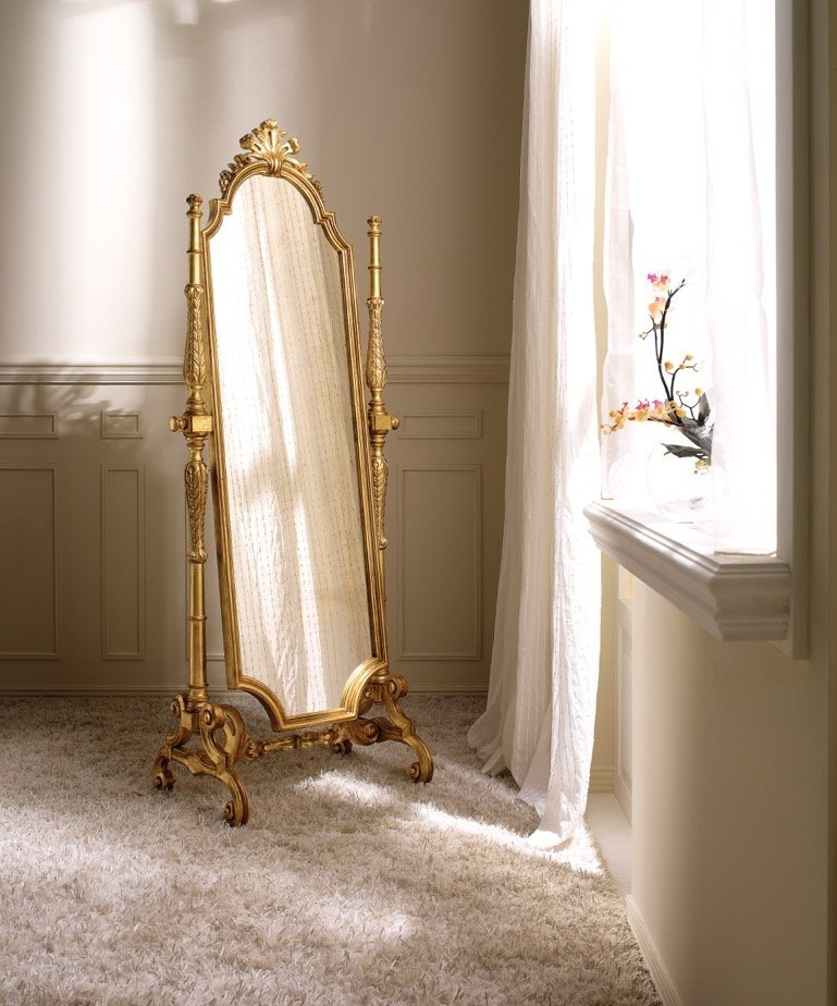 Two tone gold tilting mirror