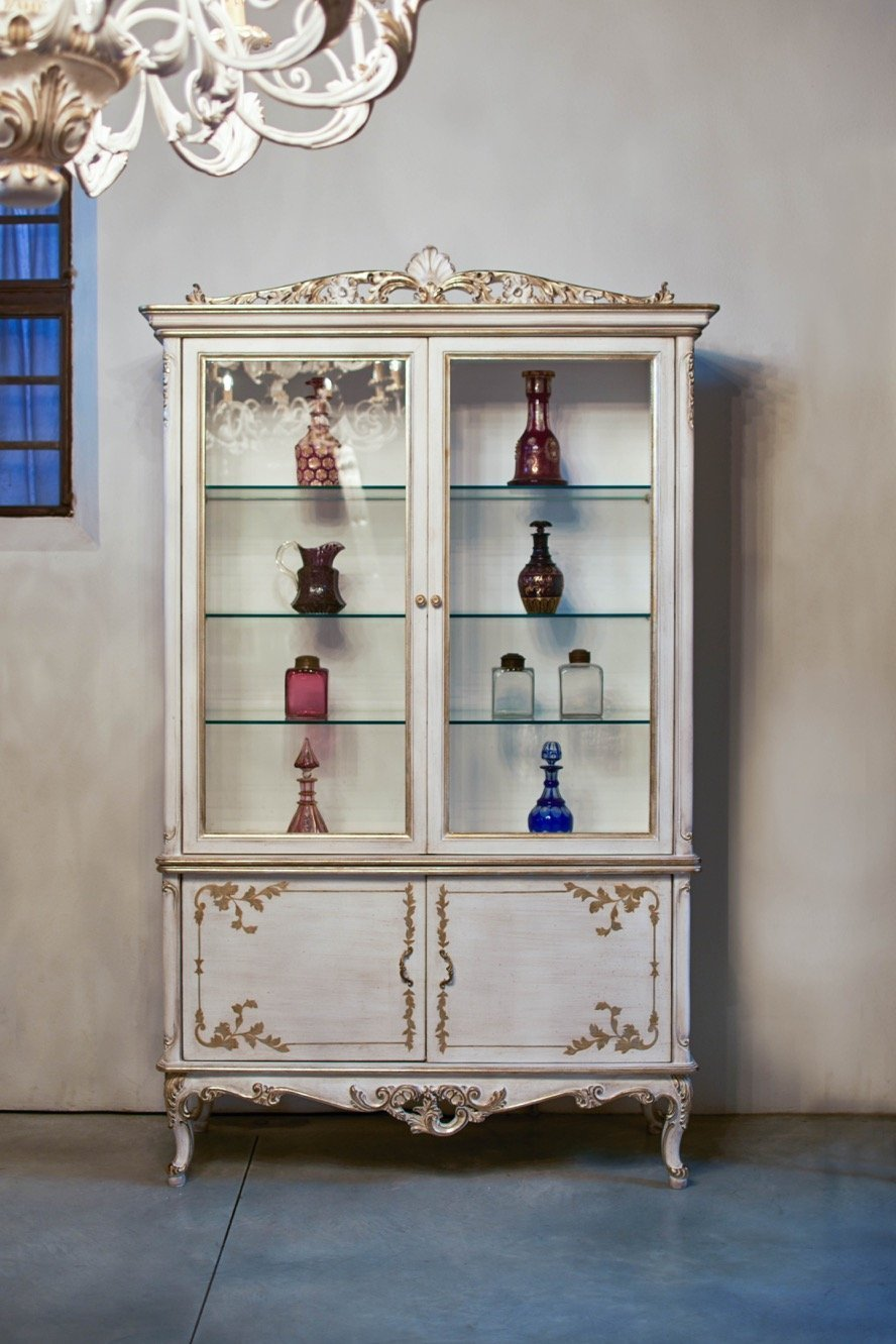 antique classic elegant wood display cabinet