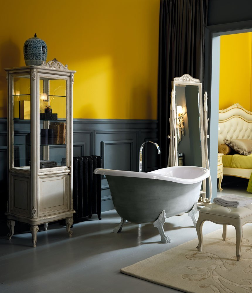 bathroom furniture classic elegant warm colors