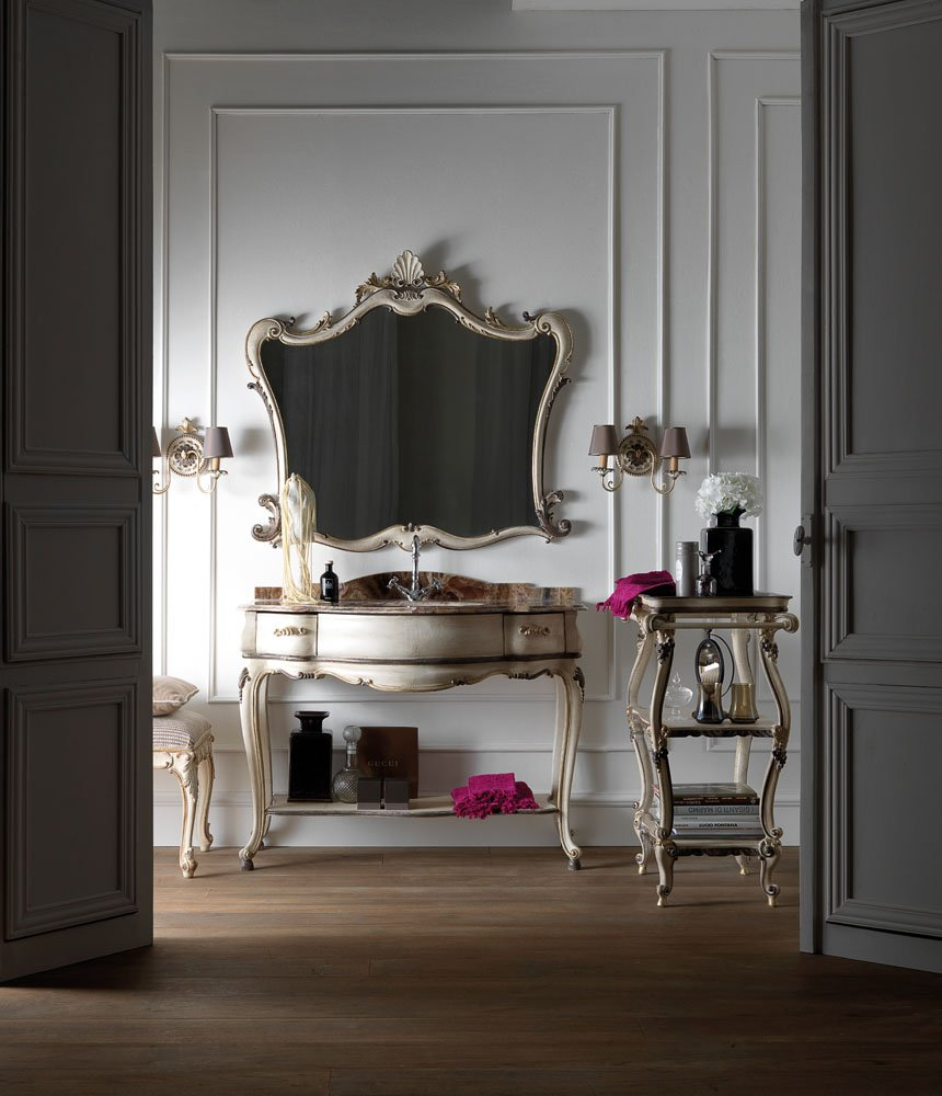 bathroom furniture | mirror | bathroom console | etagere