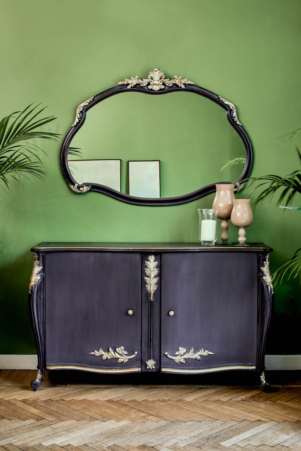 beautiful sideboard with mirror