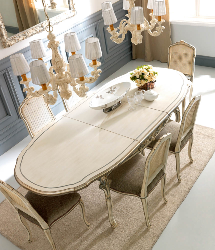 chandelier 6 lights | Extending dining table