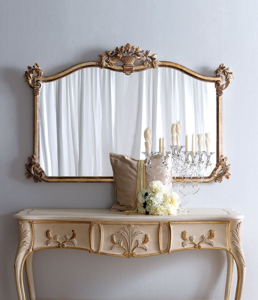 classic mirror with venetian silver finish