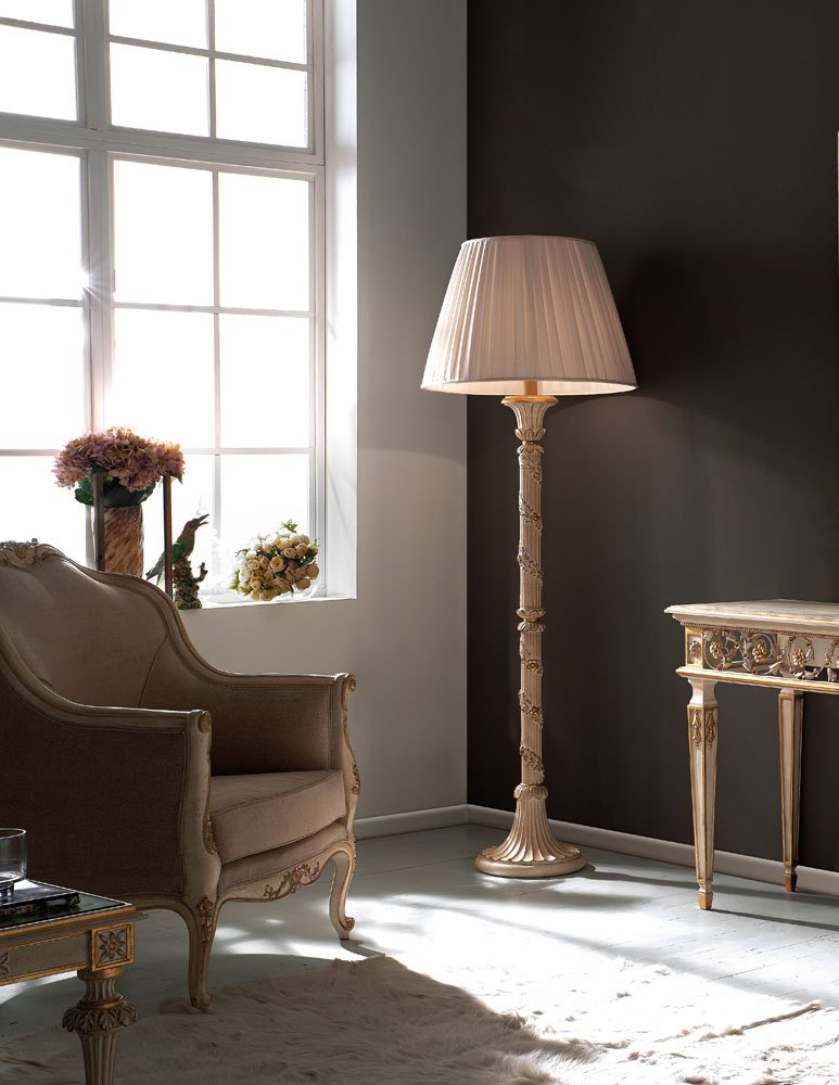 decape and gold precious floor lamp