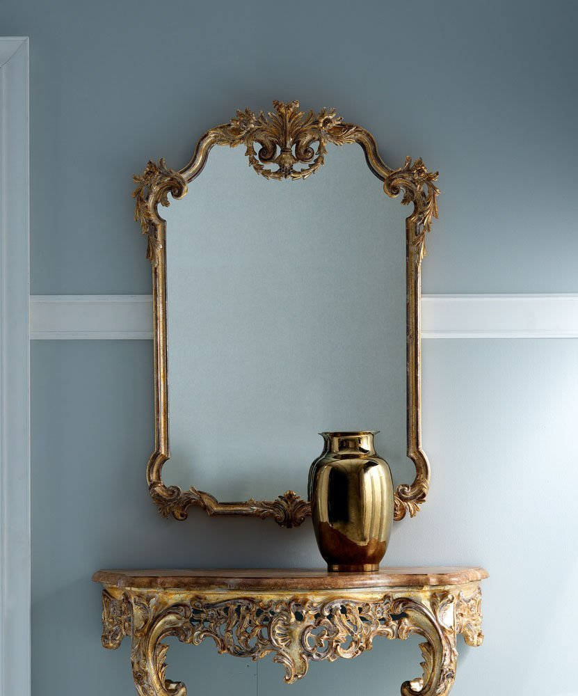 elegant gold mirror