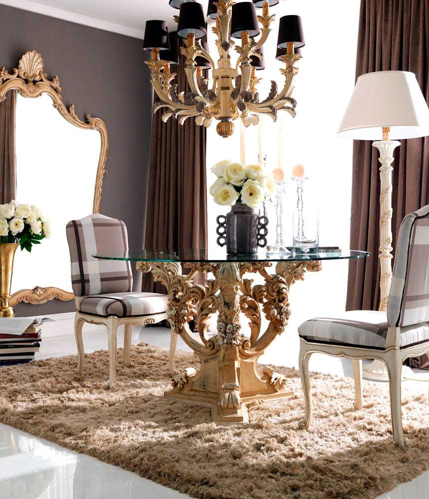 luxury furnishings bright dining room