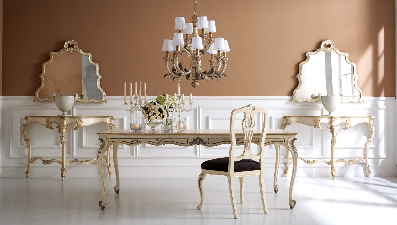 neoclassical style designer dining room