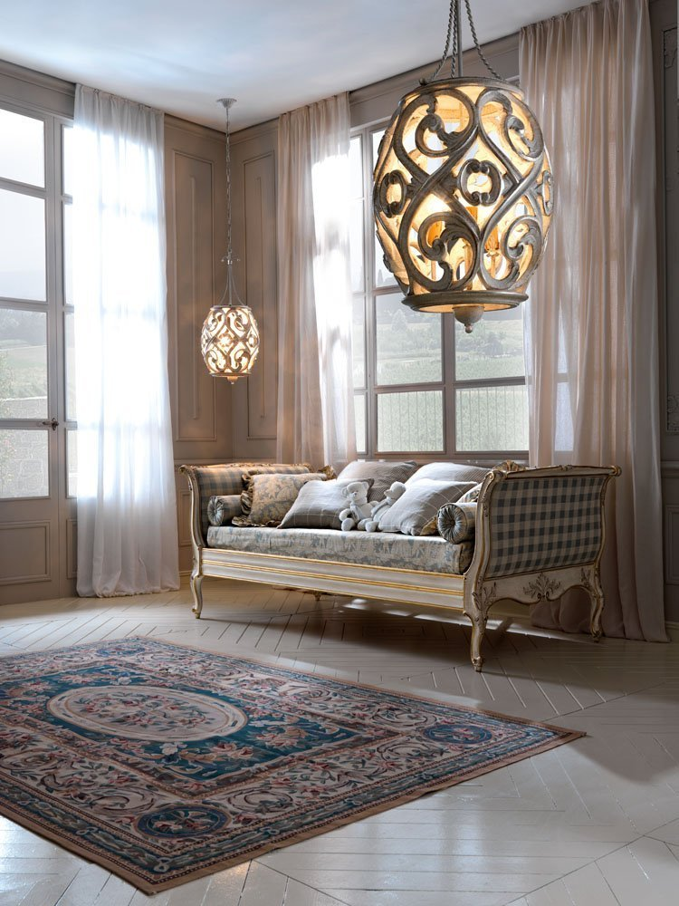 perforated lanterns 3 lights in the elegant living room