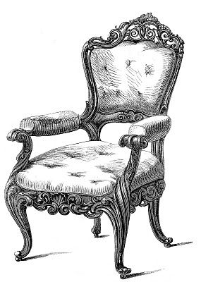luxury classical chair design